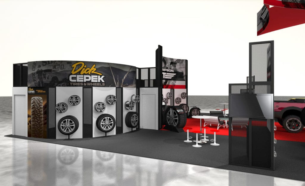 Mickey Thompson booth