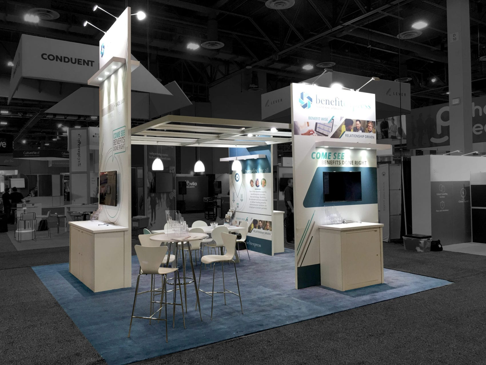 Exhibition Booth Design Award : Hr tech conference booth benefit express evo