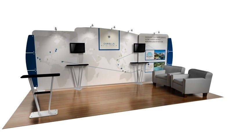Portable Exhibition Booth Sia : Portable display booth custom trade show exhibits evo