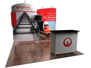 stretch fabric display booth