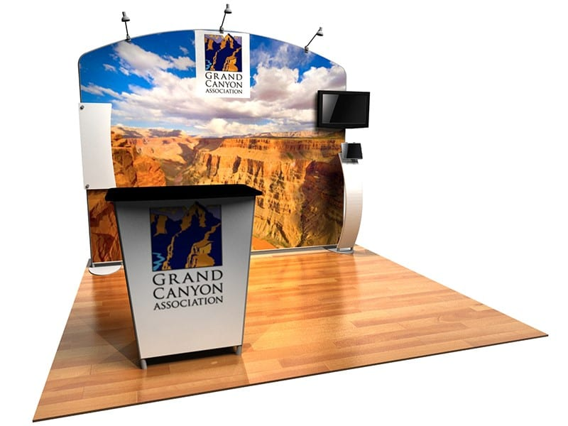 Fabric Exhibition Stand Goal : Tension fabric exhibition stands trade show booths evo