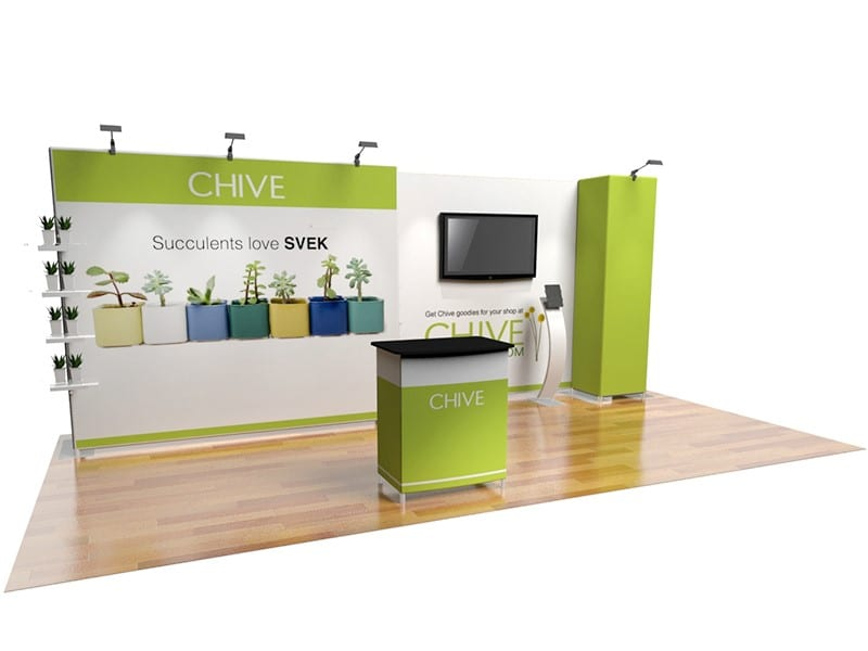 trade show booth shelving