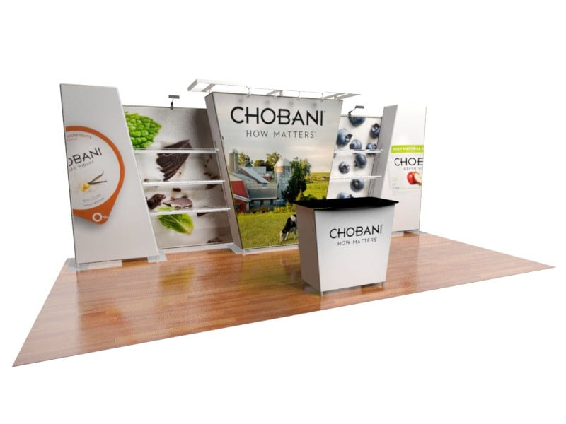 trade show display shelves