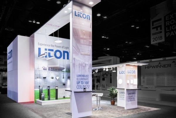 20×40 Custom Rental at Lightfair – Liton