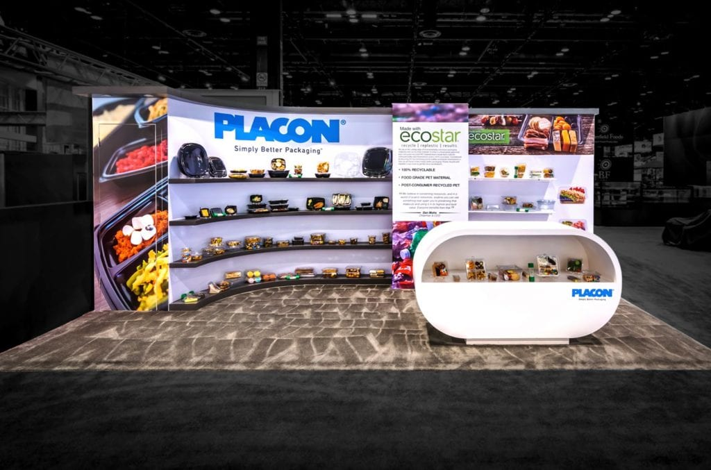 Placon utilized this Evo design at the NRA Show as well as at Pack Expo.